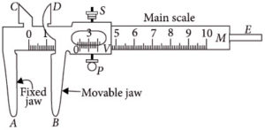 Vernier Callipers diagram