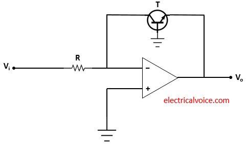Log amplifier circuit using transistor and op amp