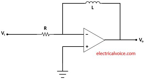 Differentiator circuit using inductor and op amp