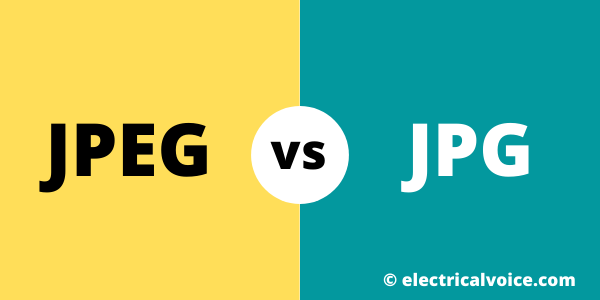 Difference between JPEG and JPG